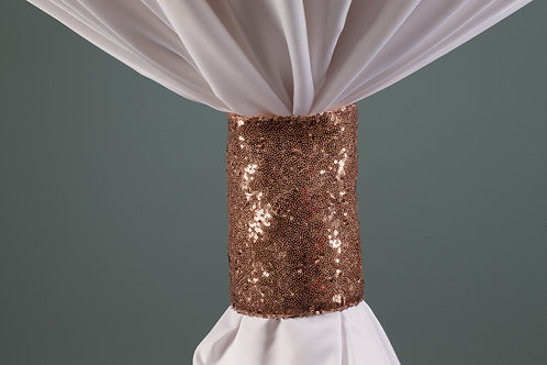 Specialty Rose Gold Sequins Cuff