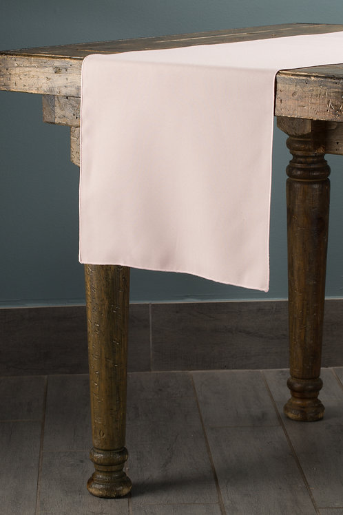 Classic Solid Blush Runner