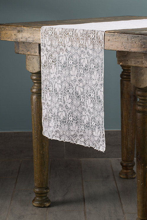 Specialty White Lace Runner
