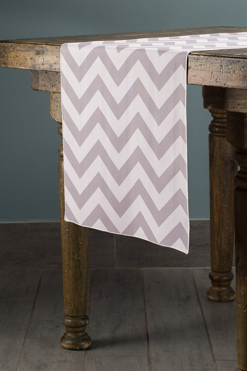 Specialty Silver Chevron Runner