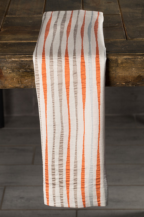 Specialty Orange Sonoma Stripe Napkin