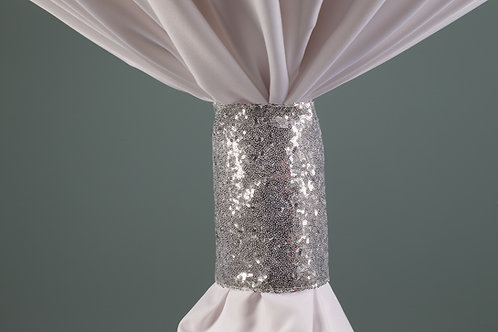 Specialty Silver Sequins Cuff