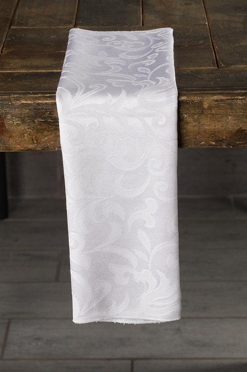 Specialty White Somerset Damask Napkin