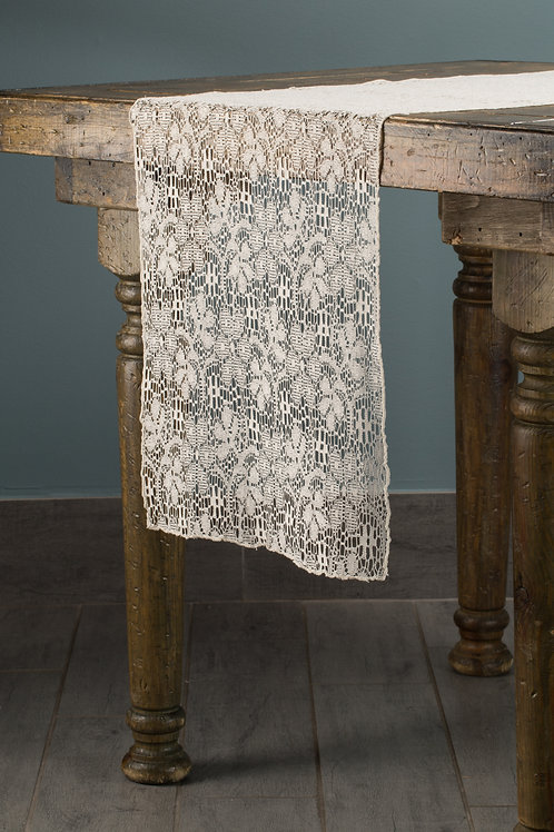 Specialty Ivory Lace Runner