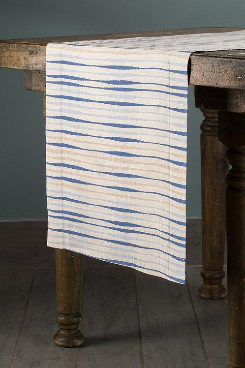 Specialty Blue Sonoma Stripe Runner