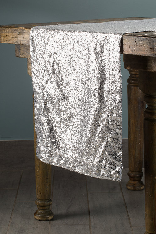 Specialty Silver Sequins Runner