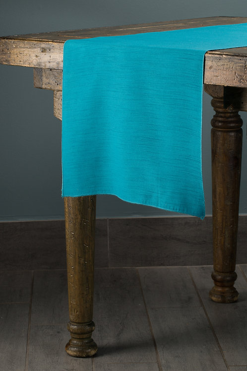 Shantung Turquoise Runner