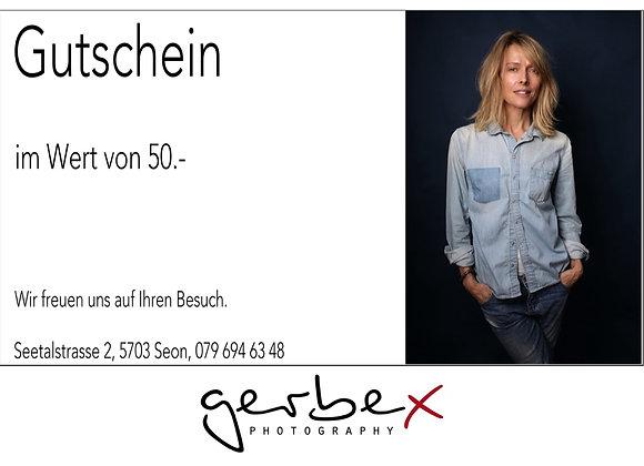 """Gutschein  """"50.-"""""""
