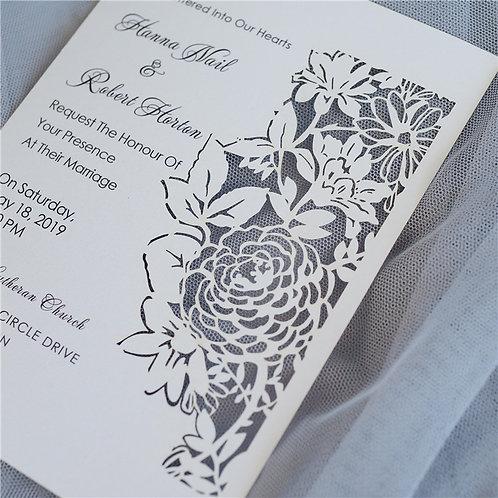 Flowers & Leaves Flat invitation