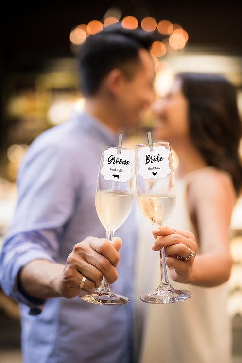 Champagne Flute Escort Cards