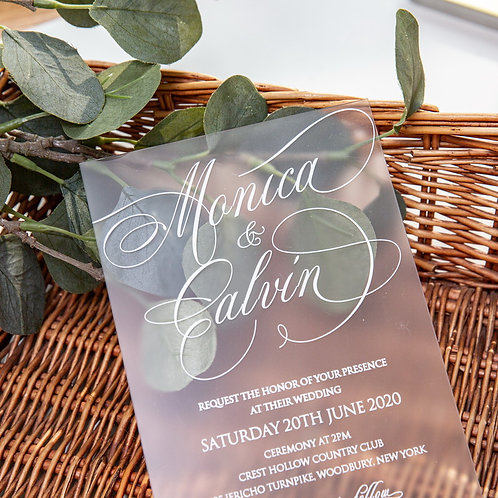 Frosted Acrylic Invitation