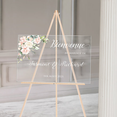 Acrylic French Welcome Sign