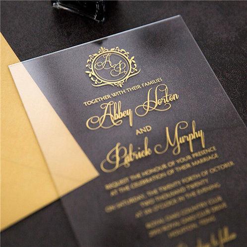 Monogram Acrylic Invitation