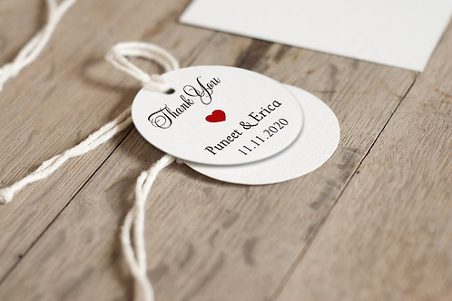 Round Favor Gift Tags