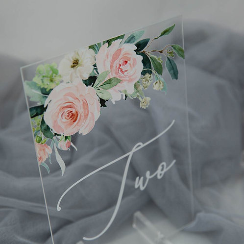 Acrylic Table Numbers with Stand