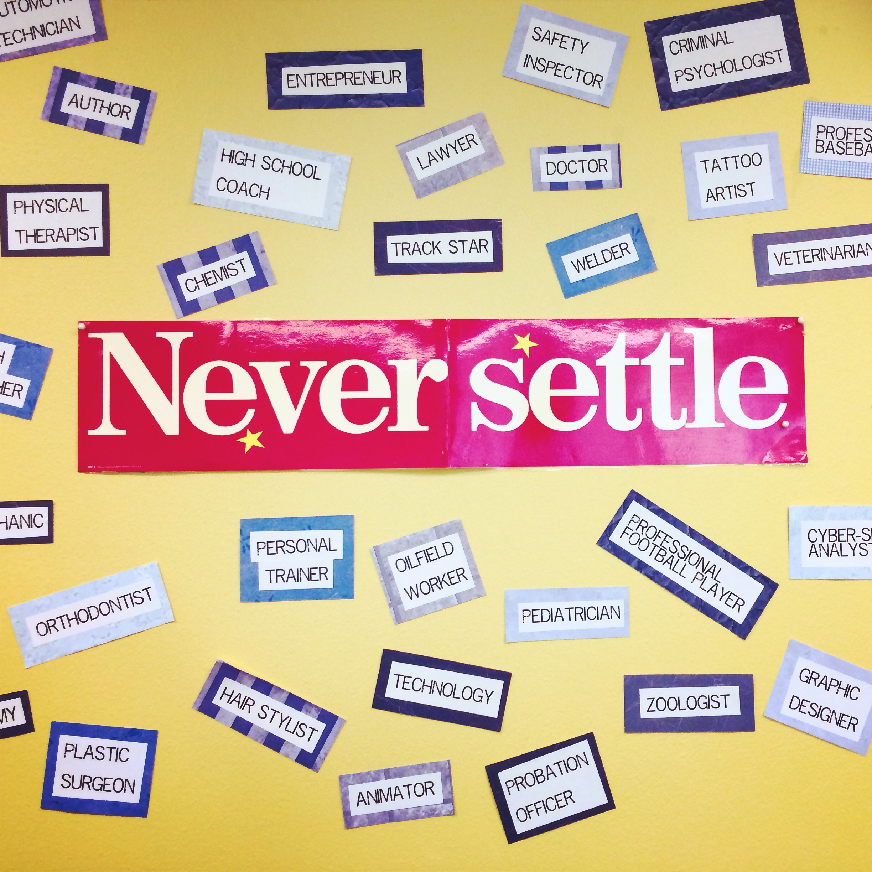 never settling