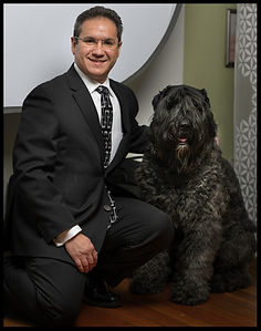 Therapy Dog, Handler, Stephen Tresco, Goliath, Bovier des Flanders,