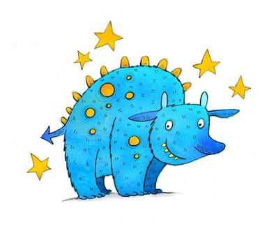 Little Blue Monster