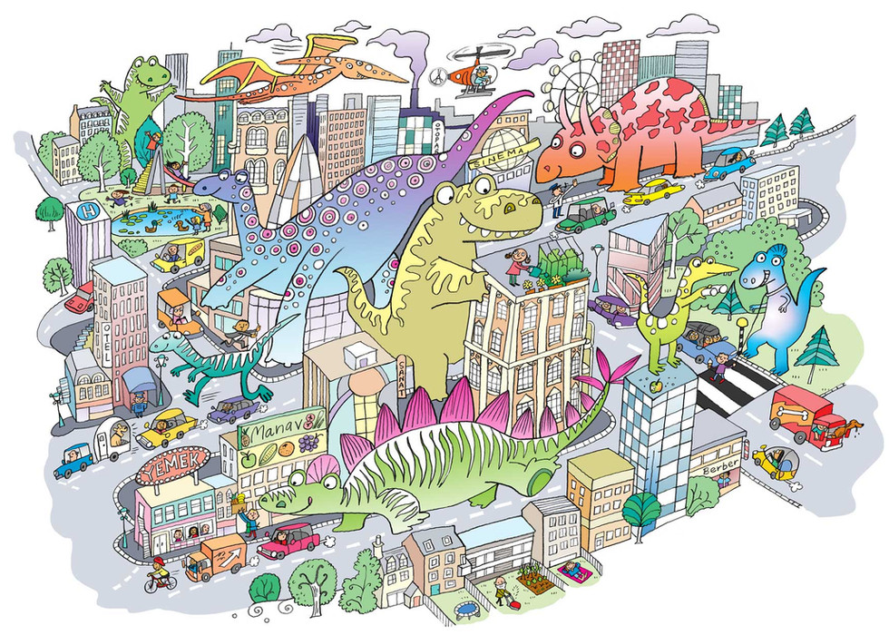 Dinos in the city