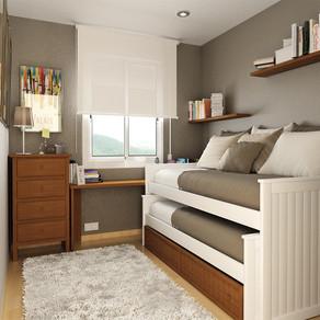 Como aproveitar o espaço em um quarto pequeno