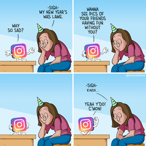 Funny pictures Instagram on New Years Eve cartoon