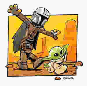 Funny pictures Calvin and Hobbes as Boba Fett and Yoda