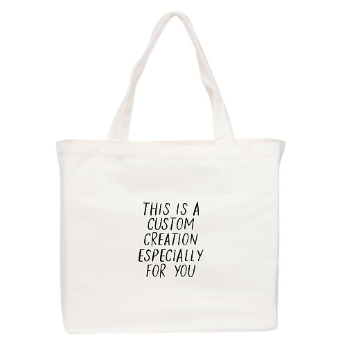 Custom Tote Bag - Large