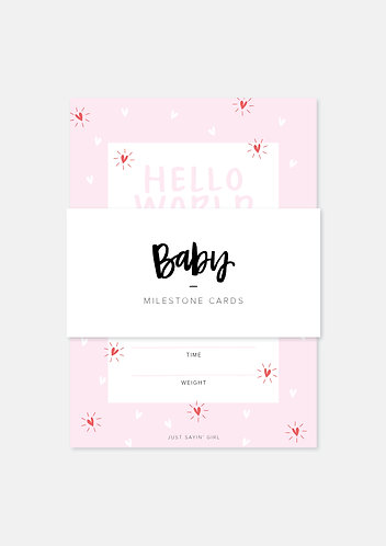 Printable Milestone Cards | Girls