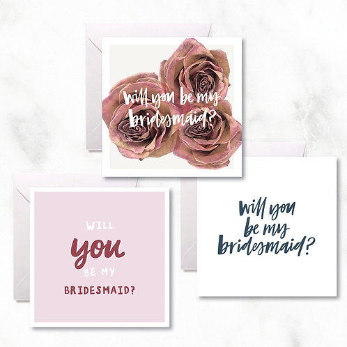 Greeting Cards Pack: Bridesmaid