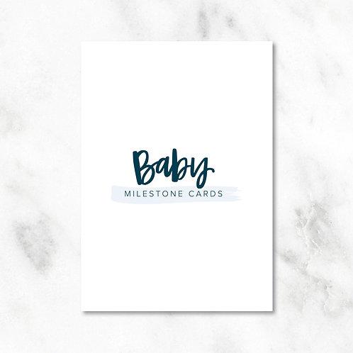 Milestone Cards: Baby Boy