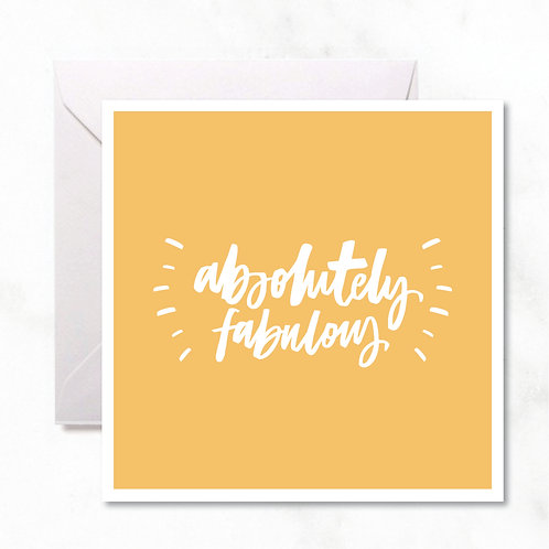 Greeting Card: Absolutely Fabulous