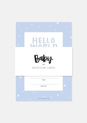 Printable Milestone Cards | Boys
