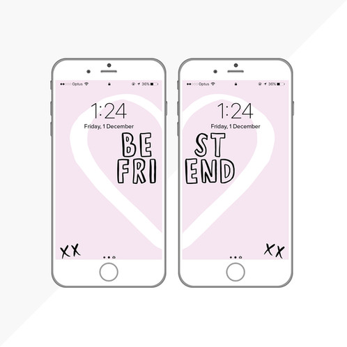 Purchase The Matching IPhone Wallpapers For You And Your Best Friend