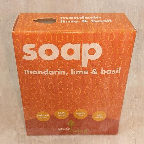 Eco-Living Handmade Soap - Lime, Basil & Mandarin