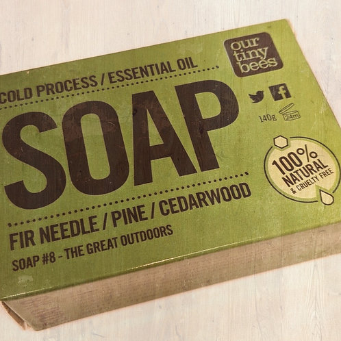 Our Tiny Bees Cold Pressed Soap - Pine