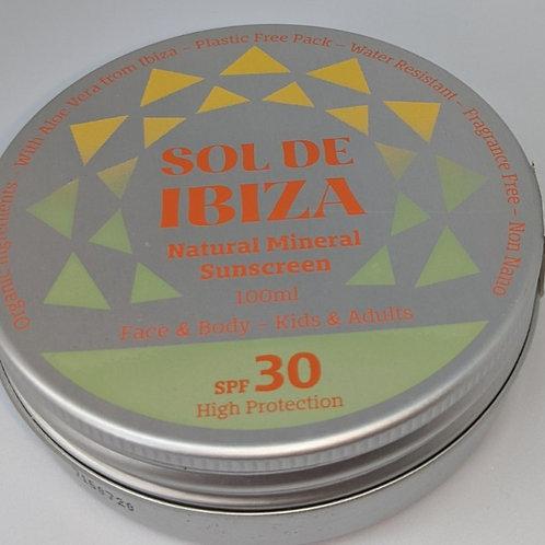 Vegan Organic Natural Sun Cream SPF30