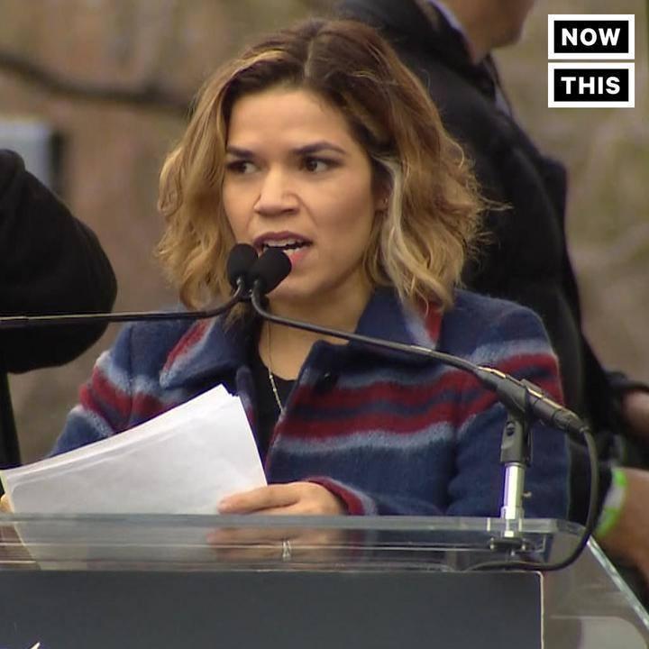America Ferrera at the Women's March