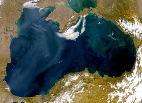Foto por satélite do Mar Negro