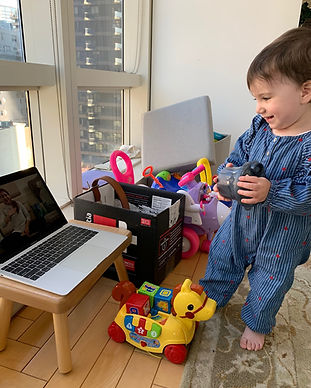 Virtual classes for baby speech and language