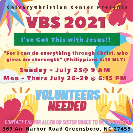 Volunteers Needed Contact Pastor Allen o