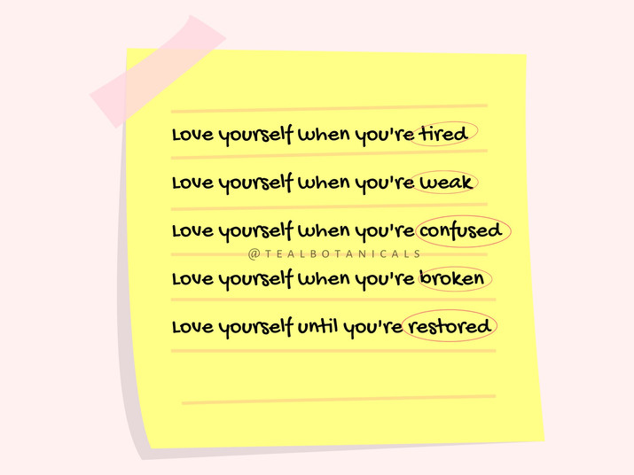 Love yourself when youre tired Love your