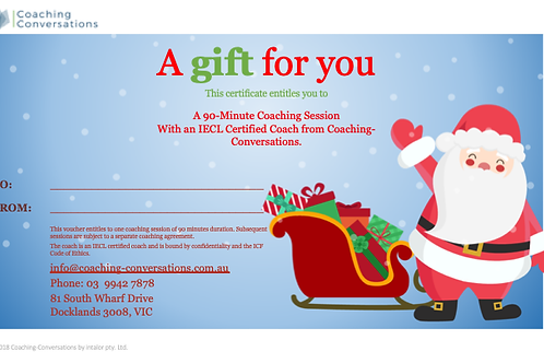 Gift Voucher - Coaching Session
