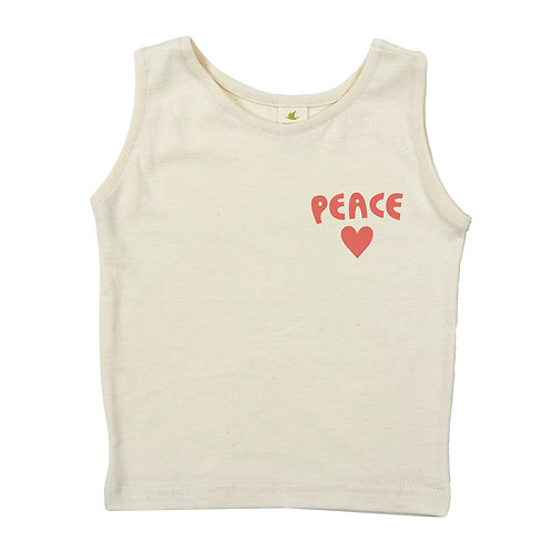 PEACE + LOVE | ORGANIC COTTON TANK TOP