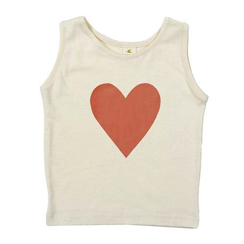 HEART | ORGANIC COTTON TANK TOP