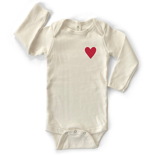 MINI HEART | ORGANIC COTTON BABY ONESIE