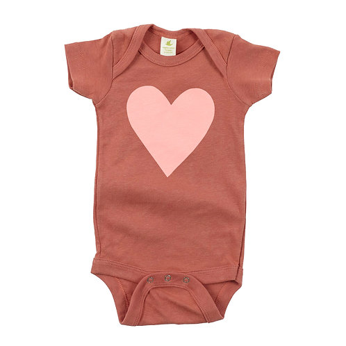 HEART   ORGANIC COTTON BABY ONESIE