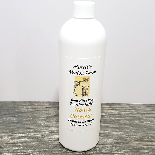 Honey Oatmeal REFILL Liquid Hand Soap (Foaming Pump)