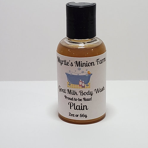 Plain (Unscented) Body Wash - Travel Size