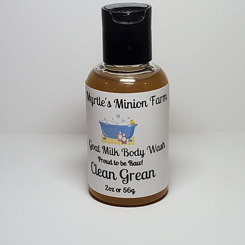Clean Green Body Wash - Travel Size