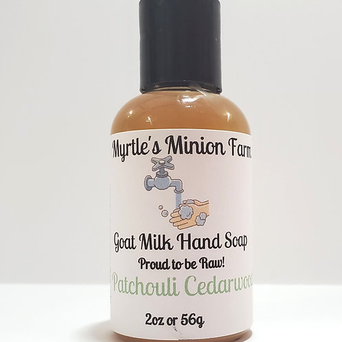 Patchouli Cedarwood Liquid Hand Soap-Travel Size